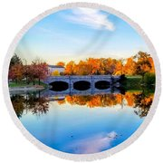 Hoyt Lake Round Beach Towel