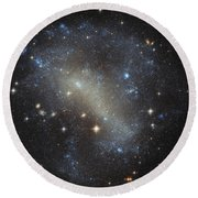 Hubbles Frenzy Of Stars Round Beach Towel