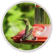Hummingbird 106 Round Beach Towel