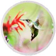 Hummingbird Fancy Round Beach Towel