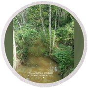 I Am A Small Stream With Big Impact Round Beach Towel