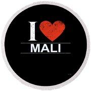 I Love Mali Round Beach Towel
