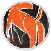 I Was Born In A Mine Orange Dog 33 Round Beach Towel