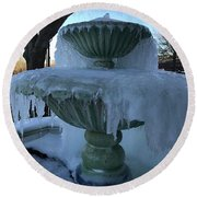 Ice Fountain Round Beach Towel