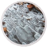 Ice Swirls Round Beach Towel