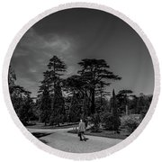 Ickworth House, Image 41 Round Beach Towel