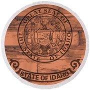 Idaho State Flag Brand Round Beach Towel