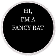 Im A Fancy Rat Halloween Funny Last Minute Costume Round Beach Towel