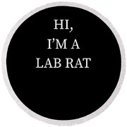 Im A Lab Rat Halloween Funny Last Minute Costume Round Beach Towel