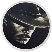 I'm Your Huckleberry Round Beach Towel