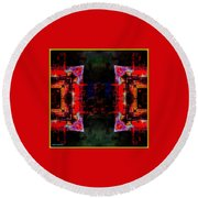 imagery in healing in a Buddhism way Round Beach Towel