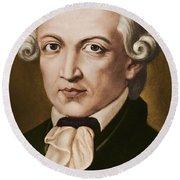 Immanuel Kant, Philosopher, Born In Konigsberg, Germany Round Beach Towel