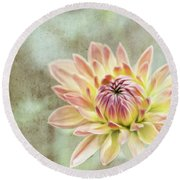 Impression Flower Round Beach Towel