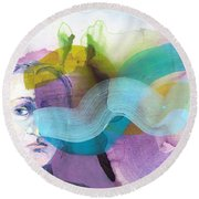 In A Mood Round Beach Towel