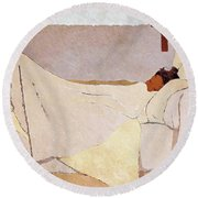 In Bed - Digital Remastered Edition Round Beach Towel