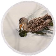In Cool Clear Waters Round Beach Towel
