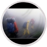 In The Clouds Poster Round Beach Towel