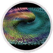 In The Eye Of The Storm II Altered  Round Beach Towel