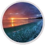 In The Fold Round Beach Towel