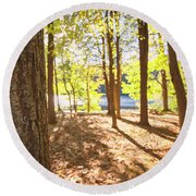 In The Forest Round Beach Towel