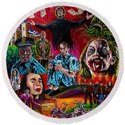 In The Mouth Of Madness Round Beach Towel