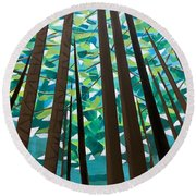 In The Redwoods Round Beach Towel