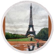 In The Summer When It Sizzles? Round Beach Towel