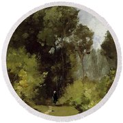 In The Woods, 1864 Round Beach Towel