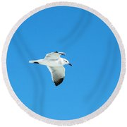 In To The Blue Round Beach Towel
