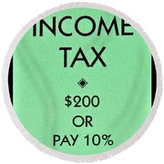 Income Tax Round Beach Towel