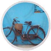 Indian Bike Round Beach Towel