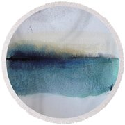 Indigo Blue Round Beach Towel