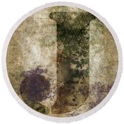 Industrial Letter J Round Beach Towel