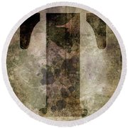 Industrial Letter T Round Beach Towel