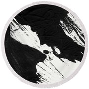 Ink Wave 2- Art By Linda Woods Round Beach Towel