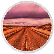 Into Nothingness  Round Beach Towel