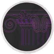 Ionic Capital Diagonal View Cropped 1 Round Beach Towel