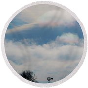Iridescent Clouds 03 Round Beach Towel by Rob Graham