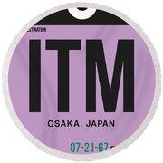 Itm Osaka Luggage Tag I Round Beach Towel
