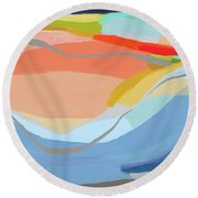 It's A New Beginning Round Beach Towel