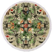 It's Complicated Round Beach Towel