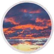 January Sunset - Vertirama 3 Round Beach Towel