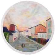 Japanese Colorful And Spiritual Nuance Of Maurice Utrillo Round Beach Towel
