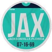 Jax Jacksonville Luggage Tag II Round Beach Towel
