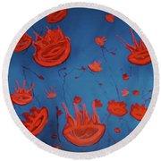 Jelly Fish Round Beach Towel