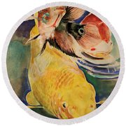 Jewels In Waters Round Beach Towel