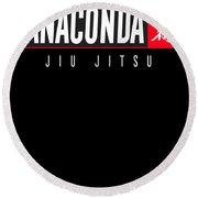 Jiu Jitsu Black Belt Anaconda Light Gift Martial Arts Bjj Round Beach Towel