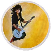 Joan Jett Round Beach Towel