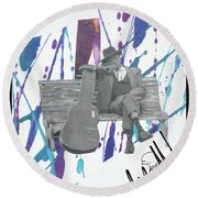 John Lee Round Beach Towel