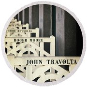 John Travolta In Deauville Round Beach Towel